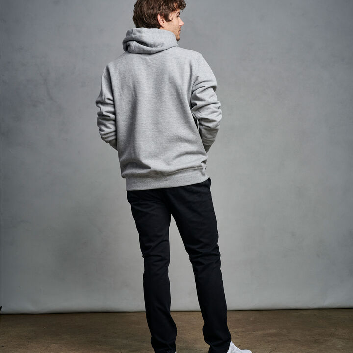 Men's Cotton Classic Fleece Hoodie Medium Grey Heather