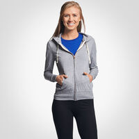 Women's Cotton Performance Lightweight Full Zip Hoodie OXFORD