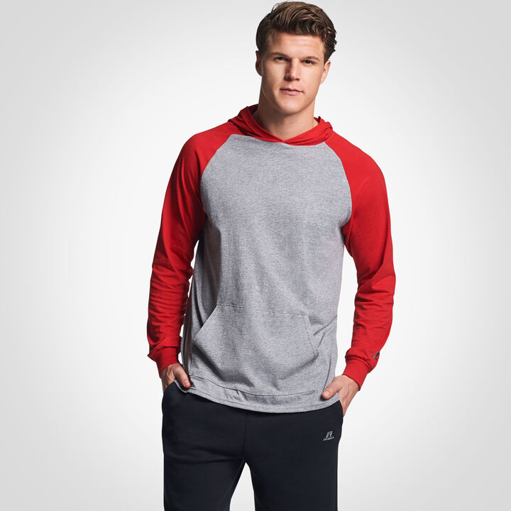Men's Cotton Performance Lightweight Hoodie OXFORD/TRUE RED