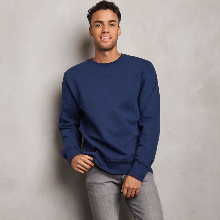 Men's Cotton Classic Fleece Crew Sweatshirt NAVY