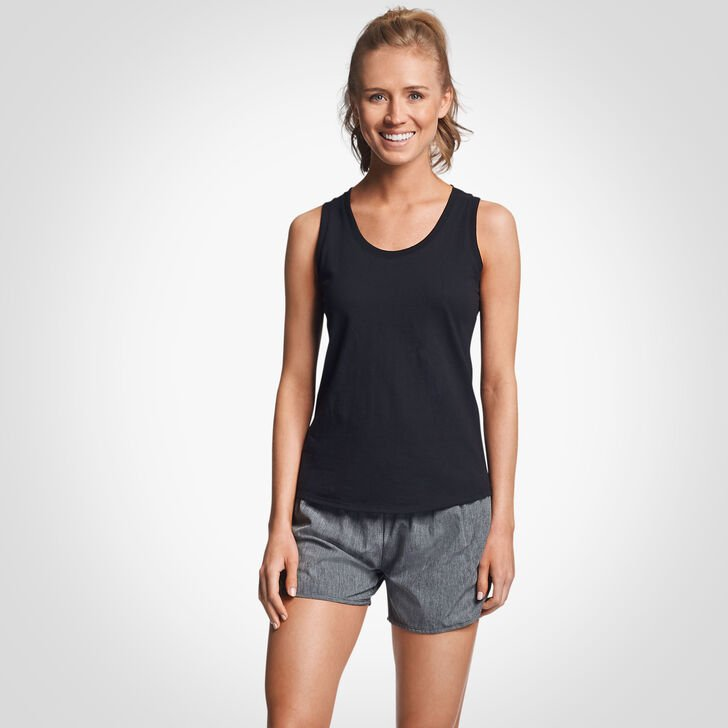 Women's Cotton Performance Tank Top BLACK