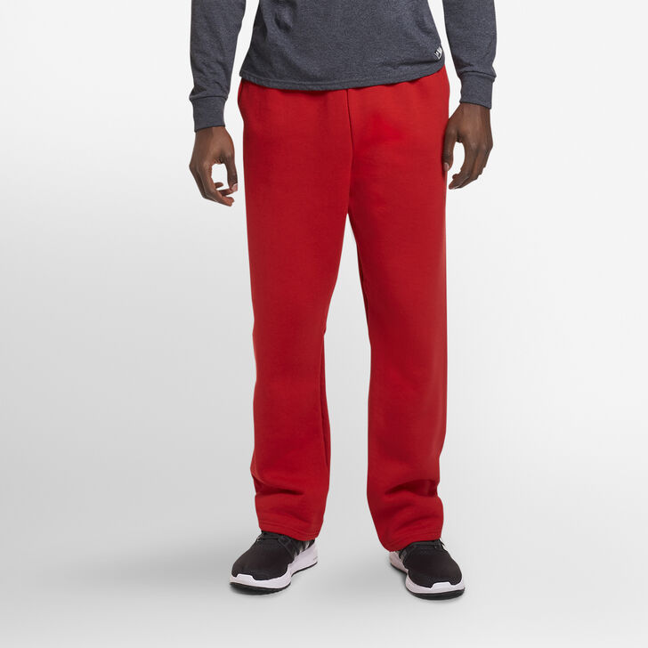 Men's Dri-Power® Open-Bottom Sweatpants with Pockets True Red