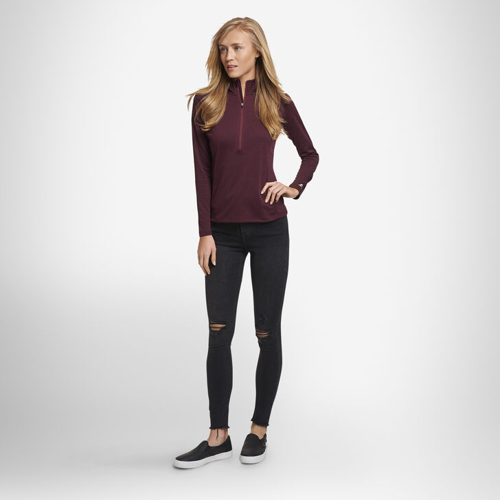 Women's Dri-Power® Lightweight Performance 1/4 Zip MAROON