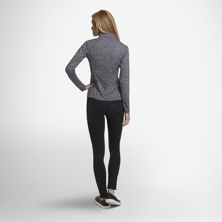 Women's Dri-Power® Lightweight Performance 1/4 Zip BLACK