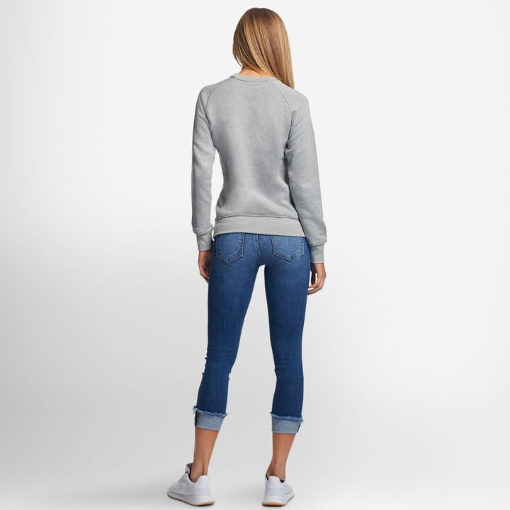 Women's Lightweight Fleece Crew Sweatshirt OXFORD