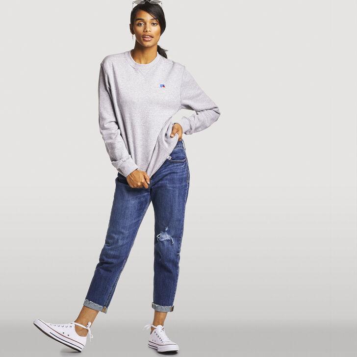 Women's Heritage Oversized Fleece Crew Sweatshirt OXFORD