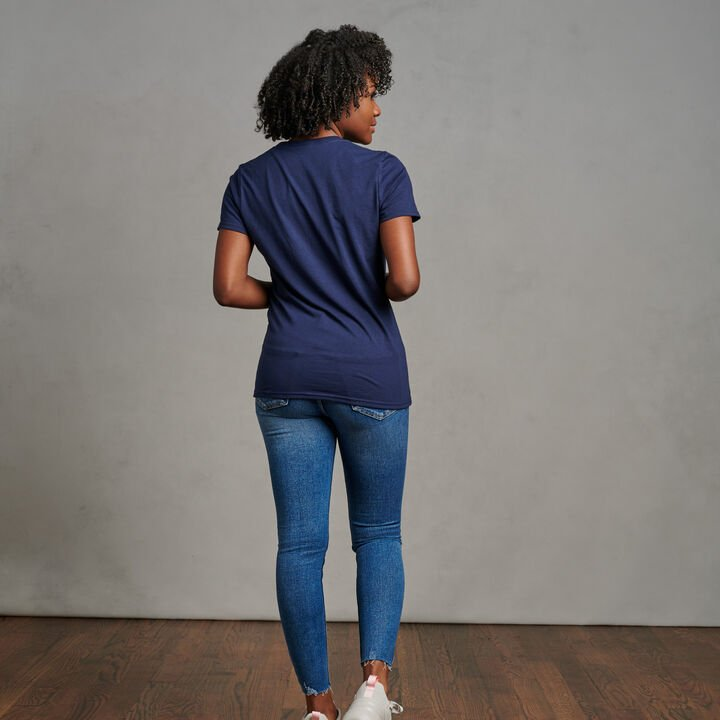 Women's Cotton Performance T-Shirt Navy