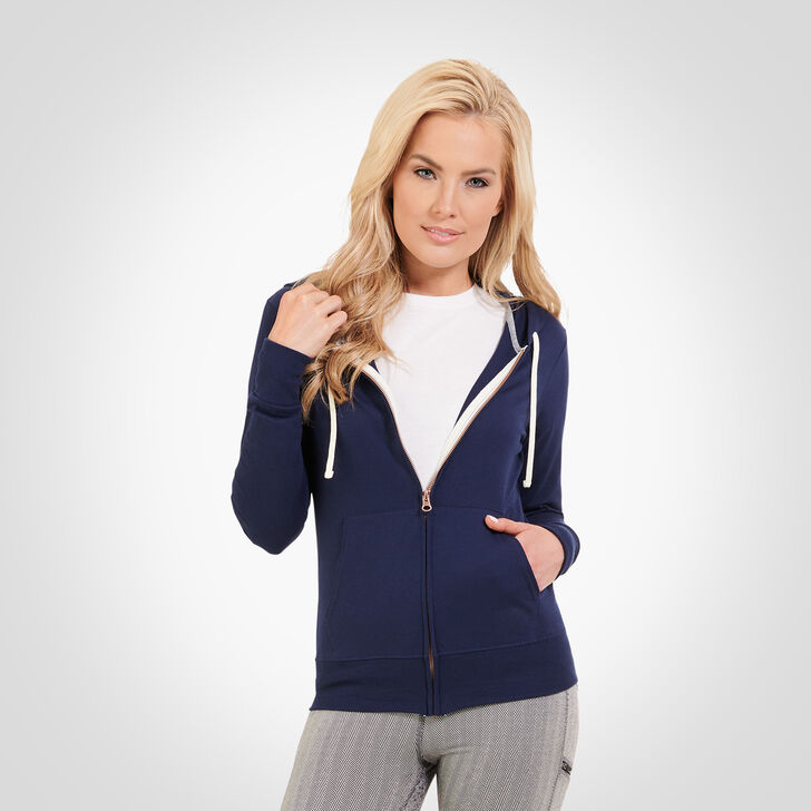 Women's Essential Lightweight Full Zip Hoodie NAVY
