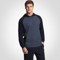 Men's Cotton Performance Lightweight Hoodie BLACK HEATHER/BLACK