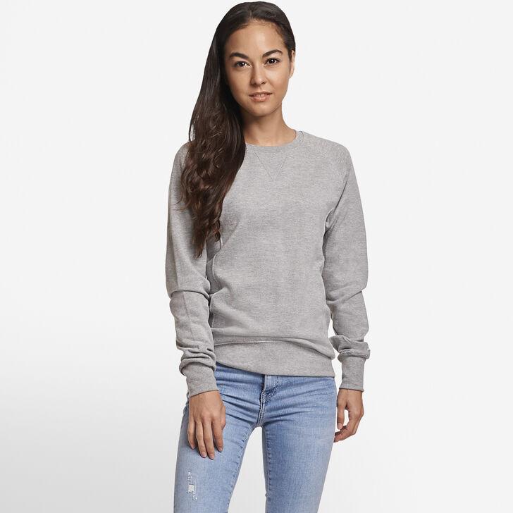 Women's Fleece Crew Sweatshirt Oxford