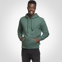 Men's Cotton Rich Fleece Hoodie GREEN HEATHER