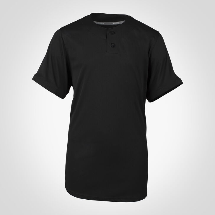 Youth Dri-Power® Solid Baseball Jersey BLACK