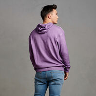Men's Garment Dyed French Terry Hoodie Violet