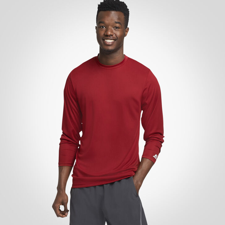 Men's Dri-Power® Performance Long Sleeve T-Shirt CARDINAL