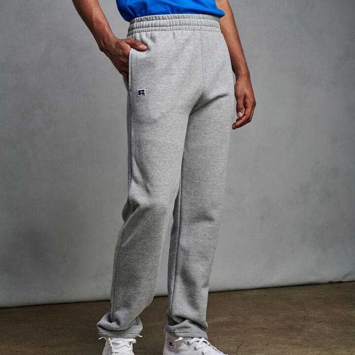 Men's Cotton Classic Open Bottom Fleece Sweatpants Medium Grey Heather