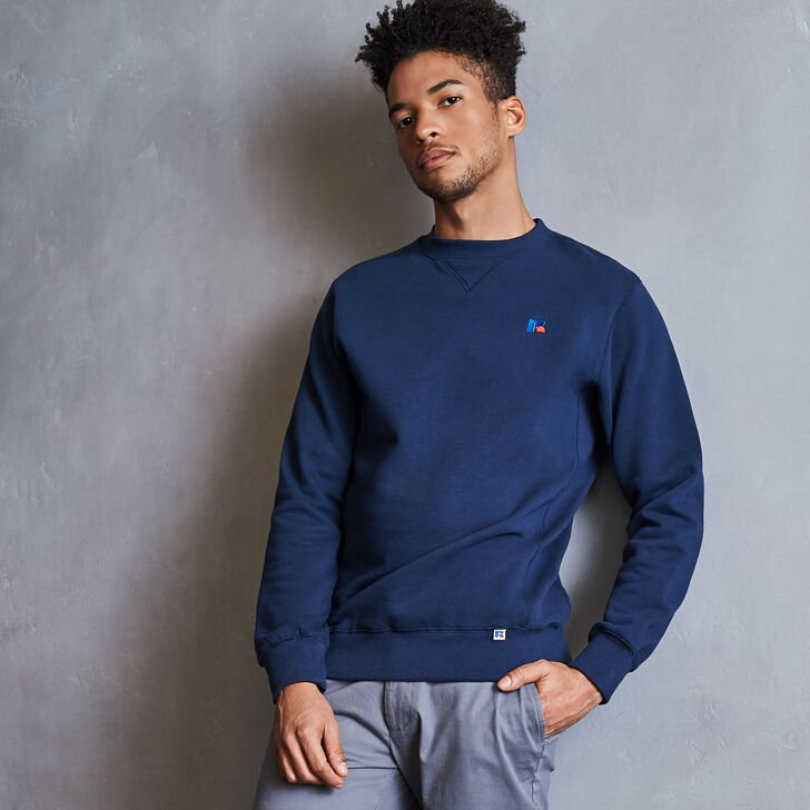 Men's Heritage Fleece Crew Sweatshirt NAVY