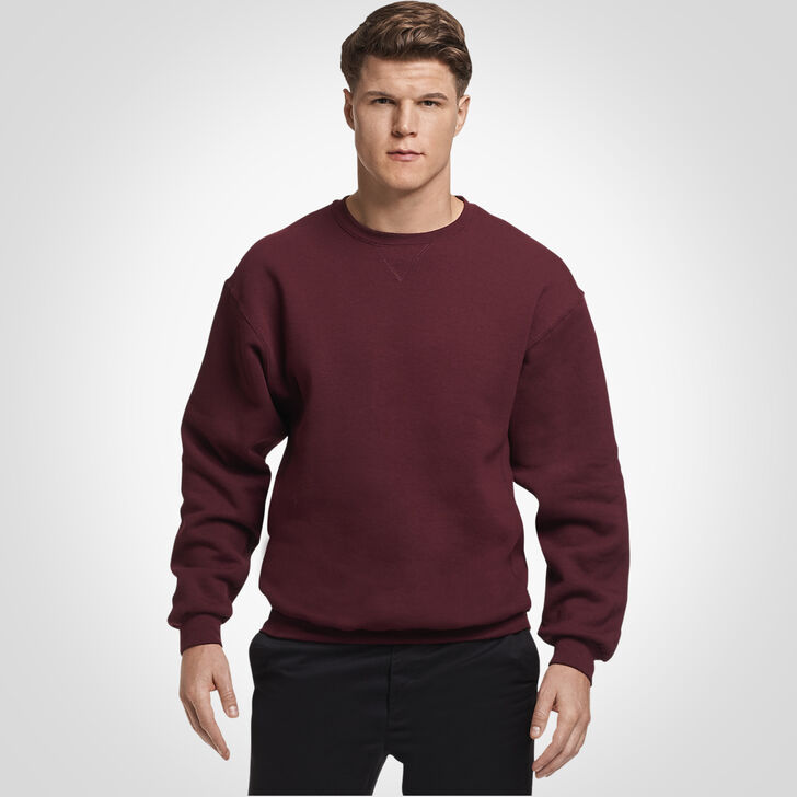 Men's Dri-Power® Fleece Crew Sweatshirt Maroon