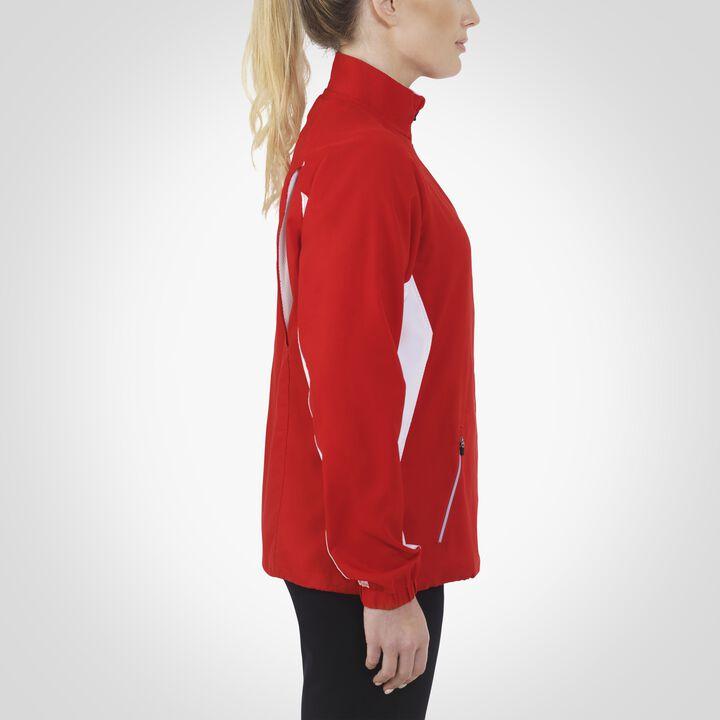 Women's Woven Warm Up Jacket TRUE RED/WHITE
