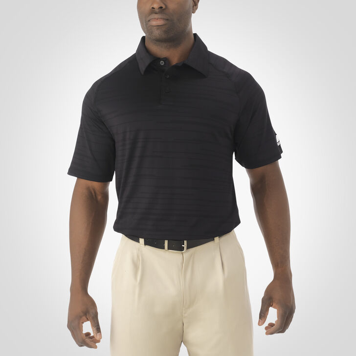 Men's Dri-Power® Striated Polo BLACK