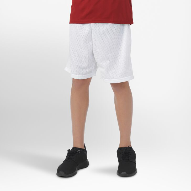 Youth Dri-Power® Mesh Shorts WHITE