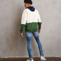 Men's Heritage Drop Shoulder Color Block Fleece Hoodie SOYA
