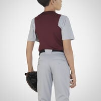 Youth Dri-Power® Colorblock Baseball Jersey MAROON/BASEBALL GREY