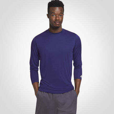 Men's Dri-Power® Performance Long Sleeve T-Shirt PURPLE