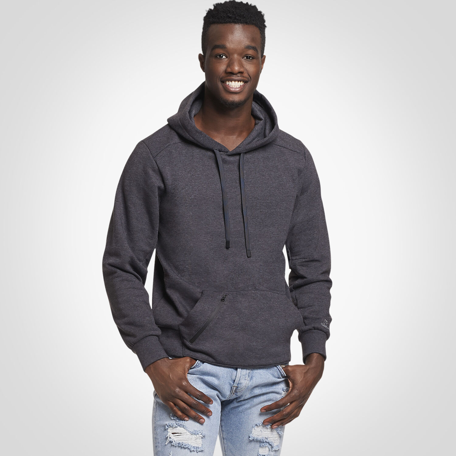 5bdff7580942 Men s Cotton Rich Fleece Hoodie CHARCOAL GREY HEATHER