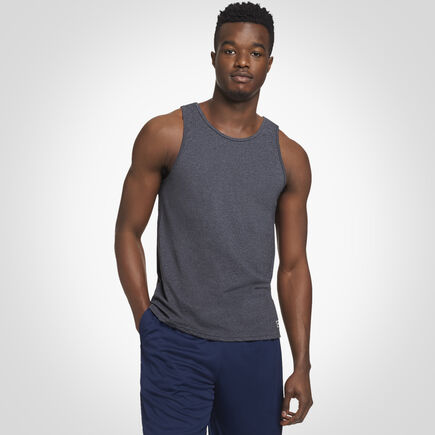 Men's Cotton Performance Tank BLACK HEATHER