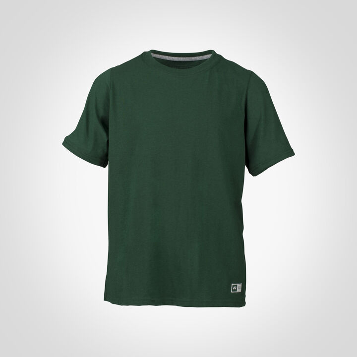 Youth Cotton Performance T-Shirt DARK GREEN