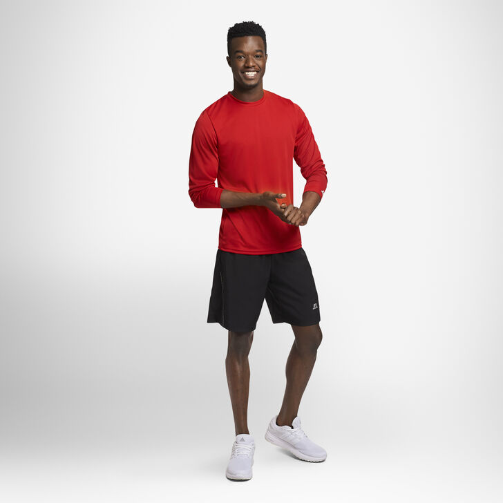 Men's Dri-Power® Performance Long Sleeve T-Shirt TRUE RED