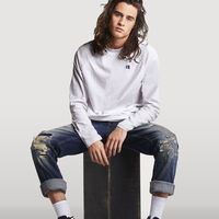Men's Heritage Raglan Color Block Long Sleeve T-Shirt WHITE
