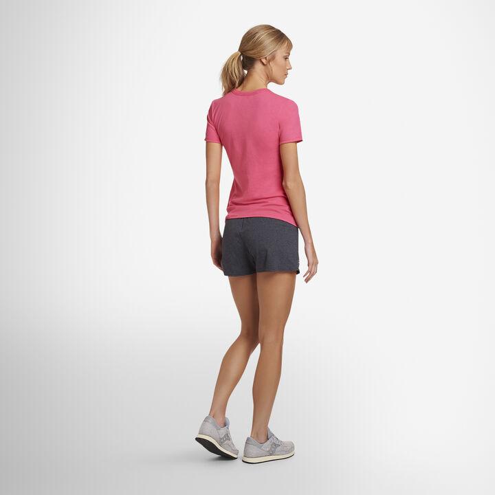 Women's Cotton Performance Active Shorts BLACK HEATHER