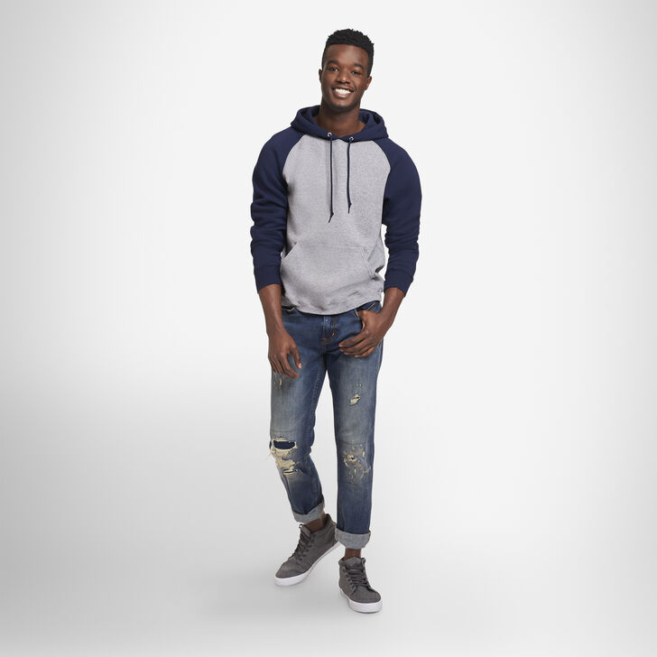 Men's Dri-Power® Fleece Colorblock Hoodie OXFORD/NAVY