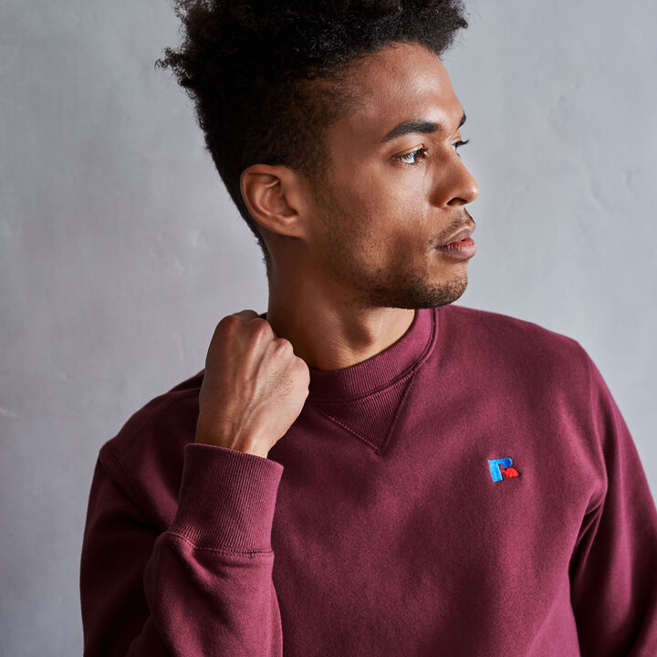 Men's Heritage Fleece Crew Sweatshirt BURGUNDY