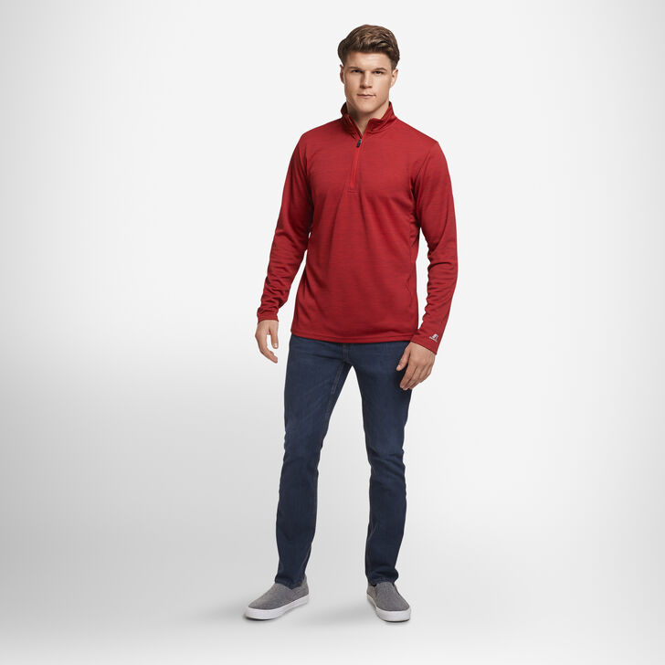 Men's Dri-Power® Lightweight Performance 1/4 Zip TRUE RED