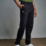 Men's Cotton Classic Open Bottom Fleece Sweatpants Black