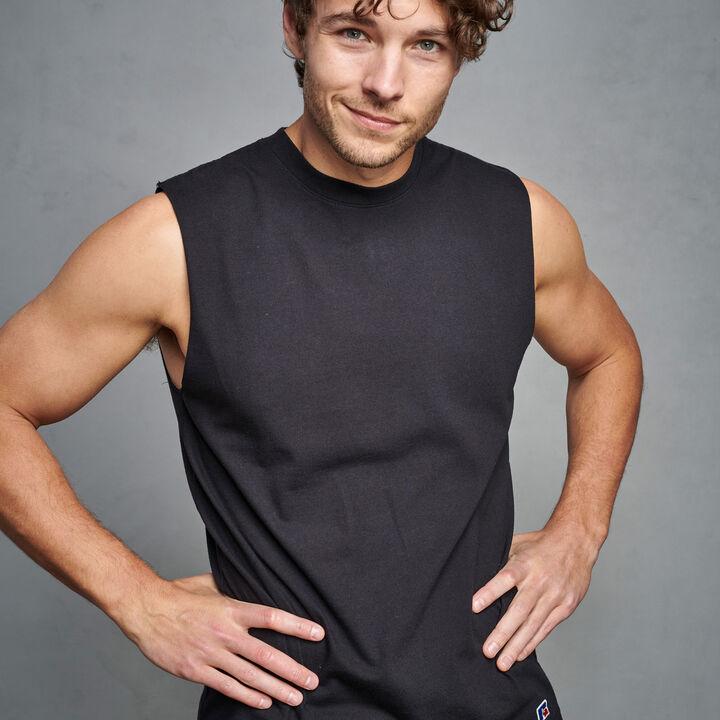 Men's Premium Cotton Classic Muscle BLACK