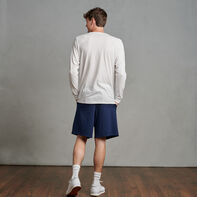 Men's Cotton Performance Long Sleeve T-Shirt White