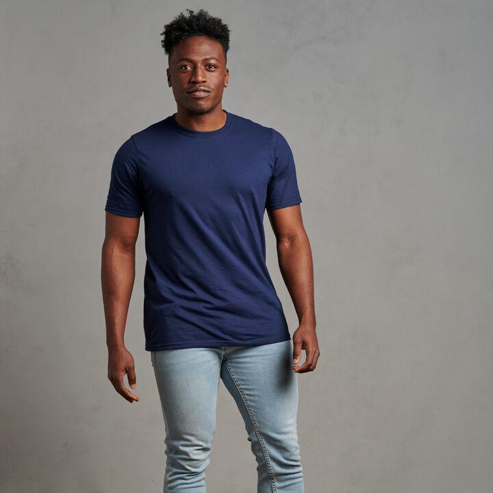 Men's Cotton Performance T-Shirt Navy