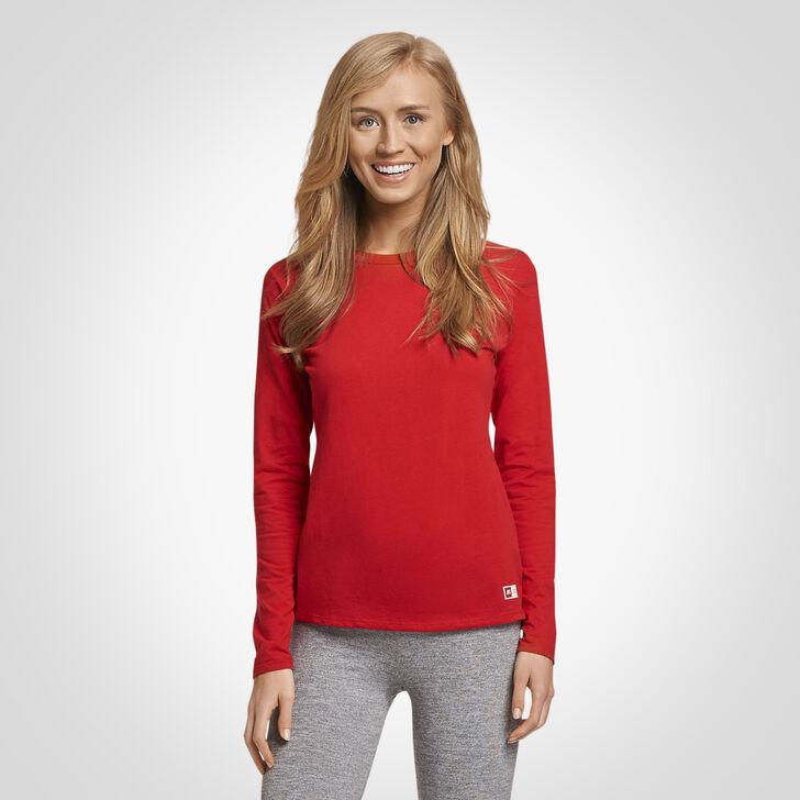 Women's Essential Long Sleeve Tee TRUE RED