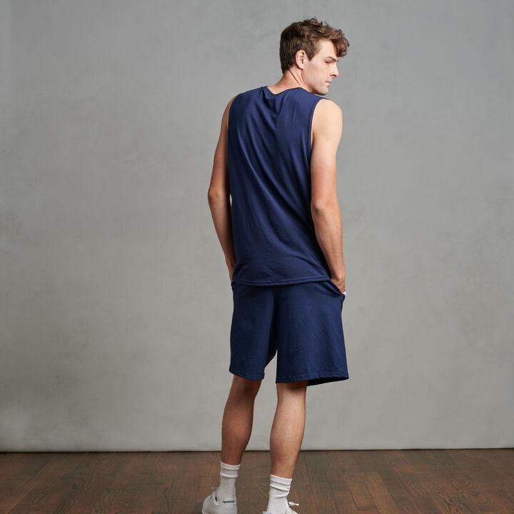 Men's Cotton Performance Muscle Navy