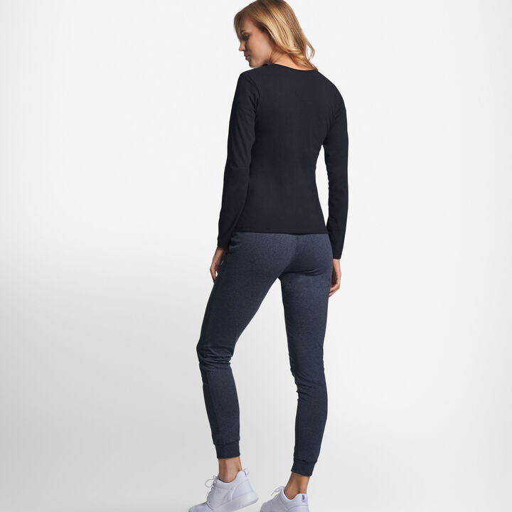 Women's Cotton Performance Long Sleeve T-Shirt BLACK
