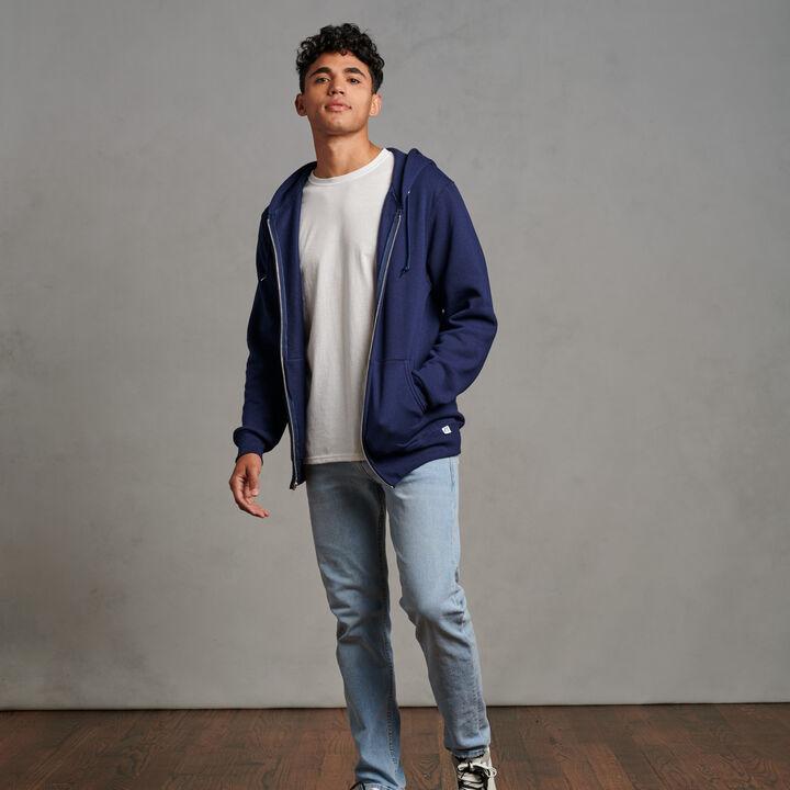 Men's Dri-Power® Fleece Full-Zip Hoodie Navy