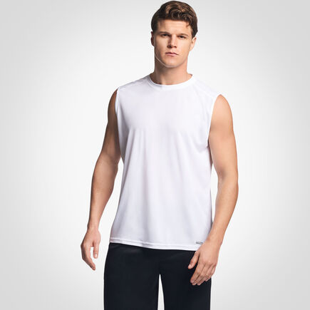Men's Dri-Power® Mesh Performance Muscle White