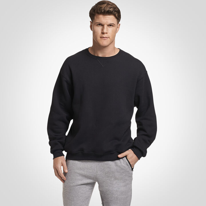 Men's Dri-Power® Fleece Crew Sweatshirt BLACK