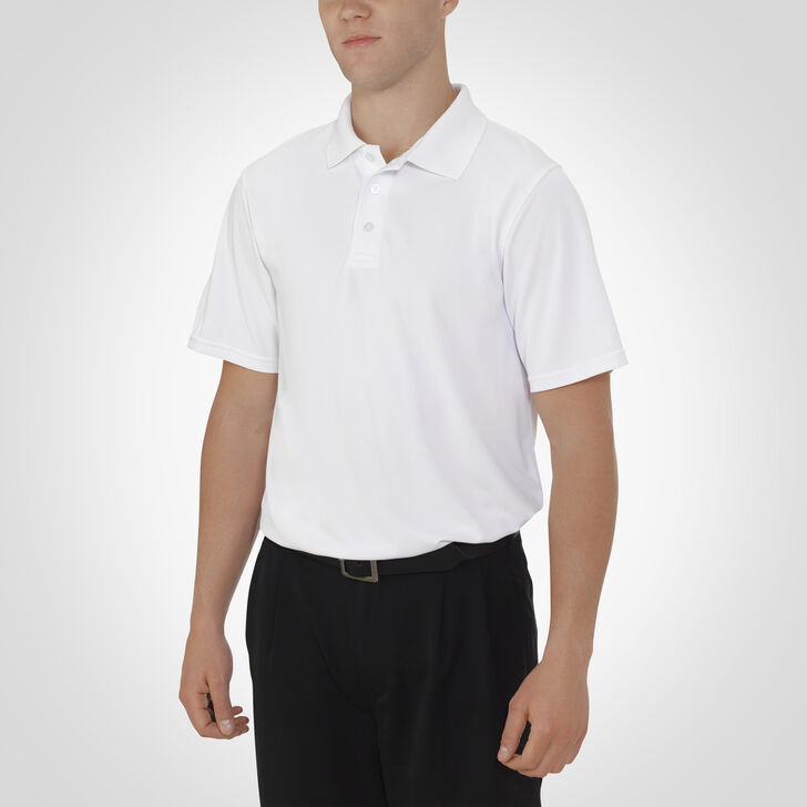 Men's Dri-Power® Essential Short Sleeve Polo WHITE