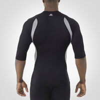 Men's Dri-Power® Half Sleeve Compression Crew BLACK/ROCK