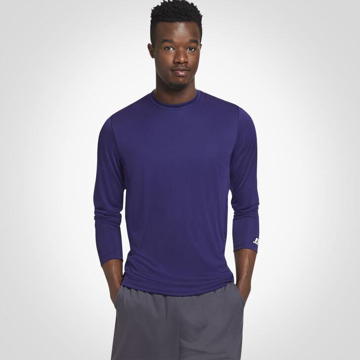 Men's Dri-Power® Core Performance Long Sleeve Tee PURPLE