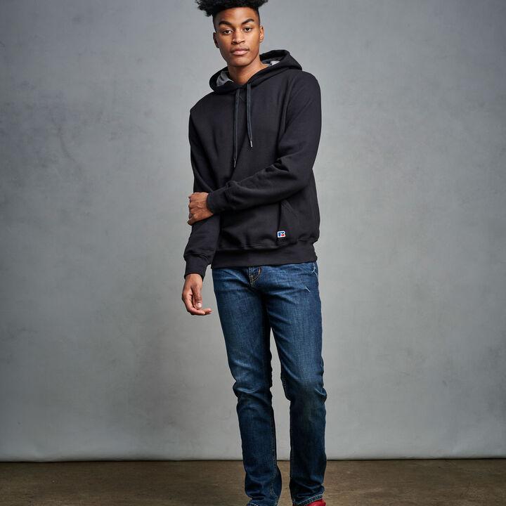 Men's Cotton Rich 2.0 Premium Fleece Hoodie Black